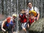カヌー支流 滝
